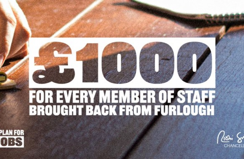 £1000 for every member of staff brought back from furlough